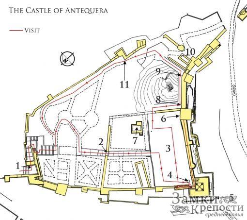План замка Антекера
