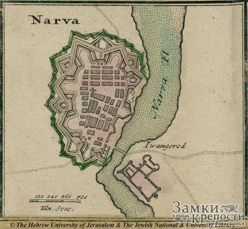 Нарвская крепость в 1750 году