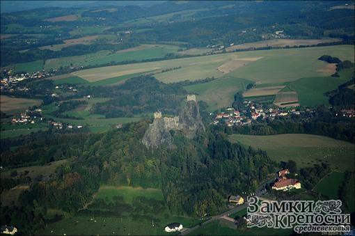 Крепость Троски с высоты птичьего полета