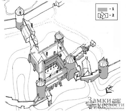 Реконструкция замка Цесис в середине XVI в.