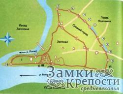 План укреплений Пскова в XIV в.