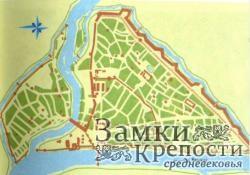 План Пскова в 1740 г. с указанием укреплений