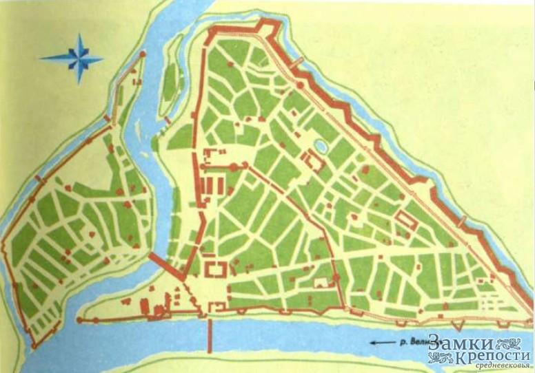 План Пскова в 1740 г. с