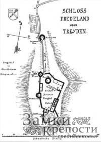 План Турайдского замка - Schloss Fredeland