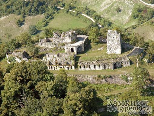 Анакопийская крепость с высоты птичьего полета