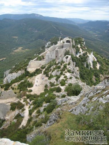Замок Керибюс с высоты птичьего полета