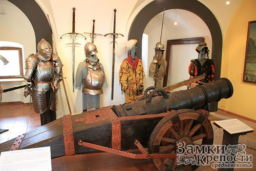 Экспозиция в одном из залов замка
