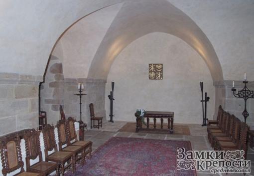 Интерьер одного из залов крепости