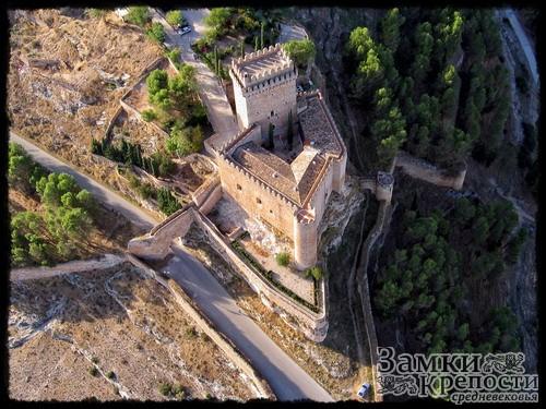 Замок Аларкон с высоты птичьего полета