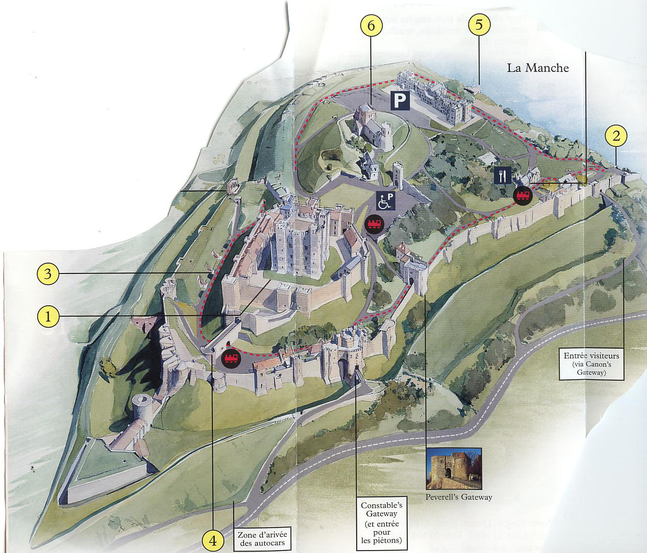 Ventimiglia castles and fortresses on the map