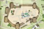 План современной Изборской крепости