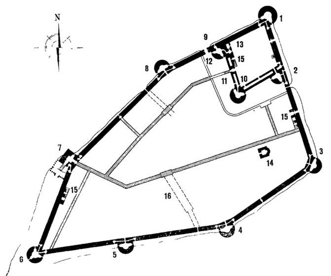 План крепости Орешек XVI века.