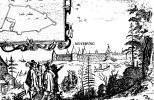 Вид Нотебурга. Гравюра из книги А. Олеария.