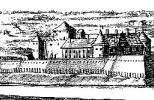 Замок Бауска на старой гравюре (1701 г.)
