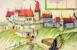 Замок Крживоклат в XVII в. на старинной миниатюре