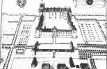 Замок Плесси-Бурре на старой гравюре