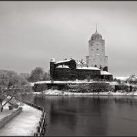 Выборгский замок зимой