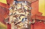 План полукруглой башни Турайдского замка