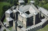 Замок Фенис с высоты птичьего полета